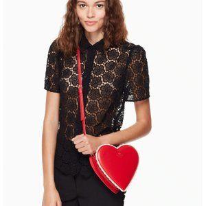 kate spade chocolate heart bag nwt